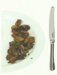 Mushrooms (50 grams) - 1.7 g of protein, 0.5 g of carbs